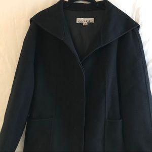 Anne Klein Women's Coat Hoodie, Black Size M